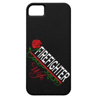 Red Rose FIREFIGHTER WIFE iPhone 5 Case