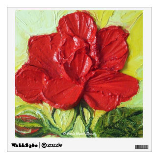 Red Rose Floral Wall Decal