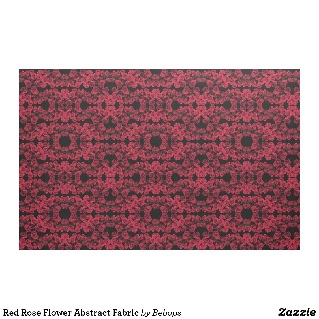 Red Rose Flower Abstract Fabric