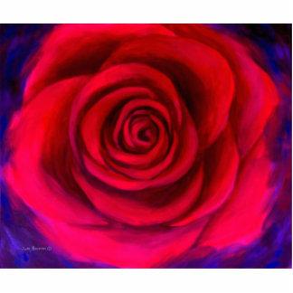 Red Rose Flower Art - Multi Statuette