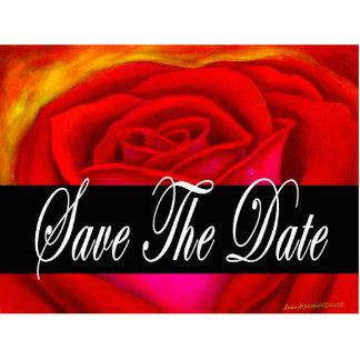 Red Rose Flower Art Photo Sculpture