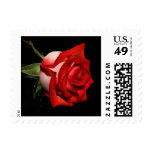 Red Rose Flower Black Floral Wedding Postage