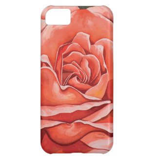 Red rose flower case for iPhone 5C