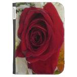 Red Rose Flower Design Kindle Case
