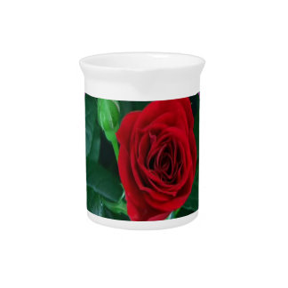 Red Rose Flower Floral Sensual Image 100 gifts Drink Pitcher