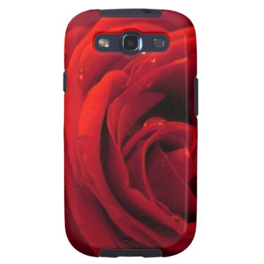 red rose flower galaxy SIII case