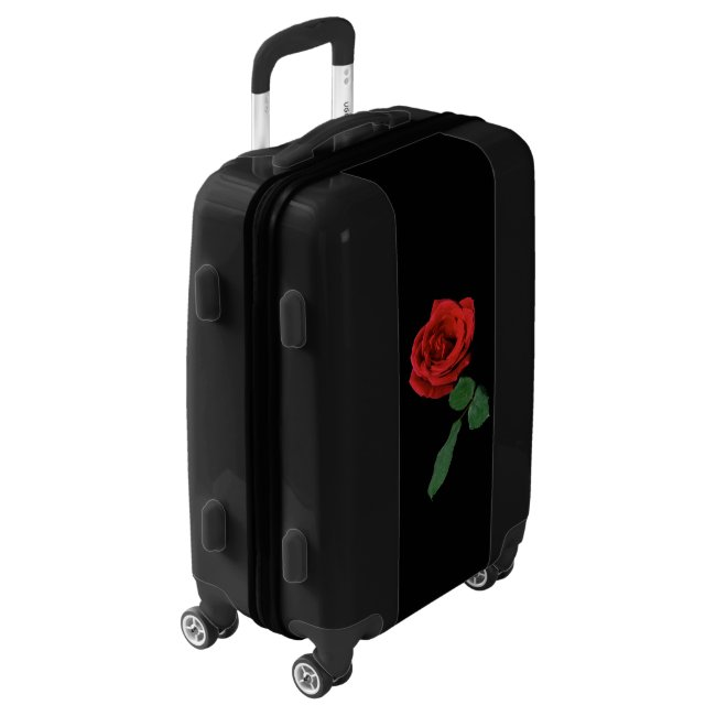 Red Rose Flower Garden Floral Luggage