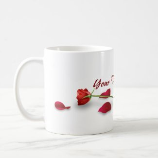 Red Rose Flower Mug mug