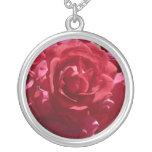 Red Rose Flower Necklace