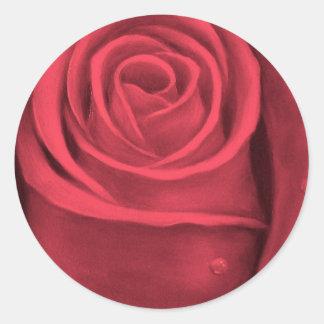 Red Rose Flower Painting - Multi Sticker