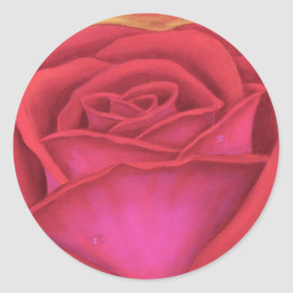 Red Rose Flower Painting - Multi Stickers