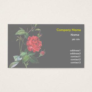 Red Rose flower, Pierre Joseph Redouté Business Card