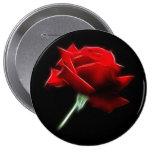 Red Rose Flower Plant 4 Inch Round Button