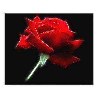Red Rose Flower Plant Flyer