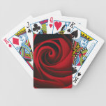 Red Rose Flower Swirl Classy Design Bicycle Playing Cards