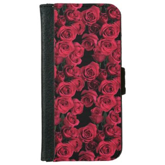 Red Rose Flowers iPhone 6 Wallet Case
