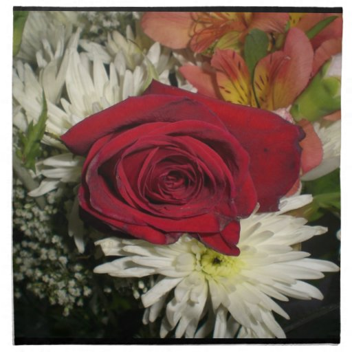 Red Rose Flowers theme Napkin