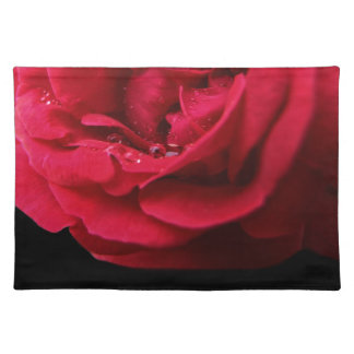 Red Rose for Passion Cloth Placemat