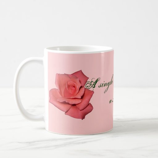 Red Rose Friendship Quote Coffee Mug