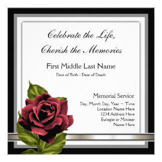 Funeral Invitations, 500+ Funeral Announcements & Invites