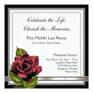 Rose Funeral Invitations & Announcements | Zazzle