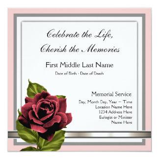 Do It Yourself Funeral Invitations & Announcements | Zazzle