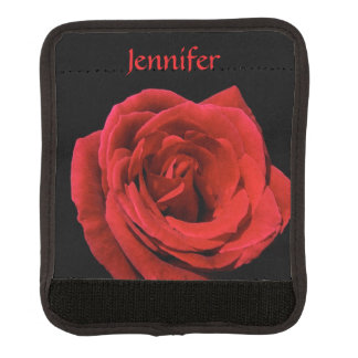 Red Rose Garden Flower Floral Luggage Handle Wrap