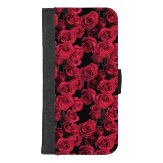 Red Rose Garden Flower iPhone 8/7 Plus Wallet Case