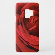 Red Rose Garden Flower Pattern Galaxy S9 Case