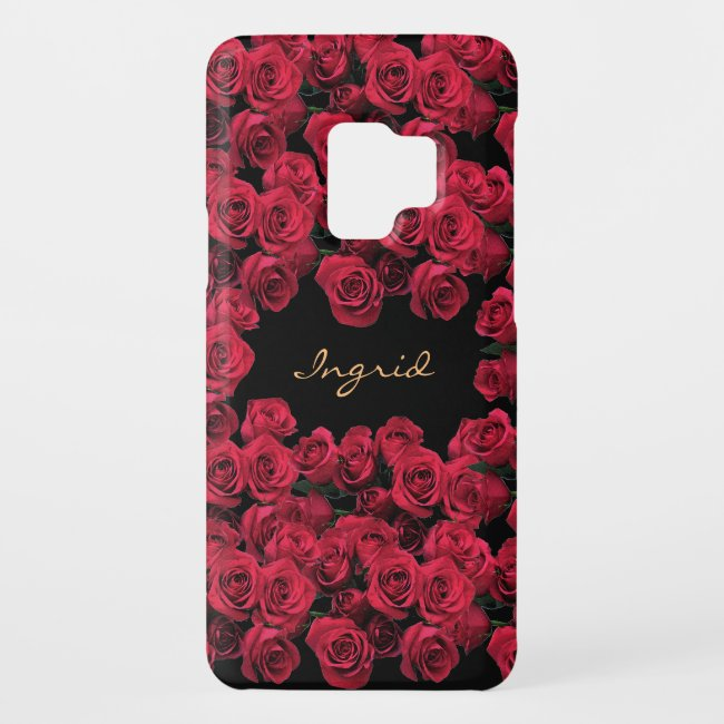 Red Rose Garden Flowers Floral Galaxy S9 Case