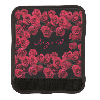 Red Rose Garden Flowers Luggage Handle Wrap
