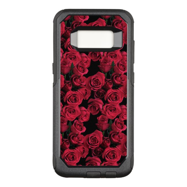 Red Rose Garden Flowers OtterBox Galaxy S8 Case