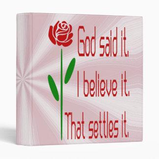 Red Rose God Said It Binder
