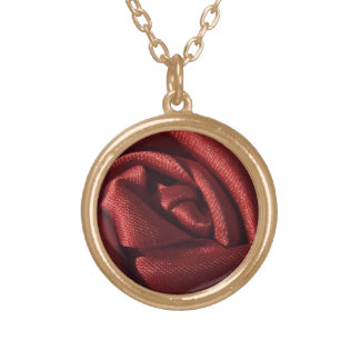 Red Rose Gold Plated Necklace