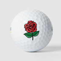 Red Rose Golf Balls