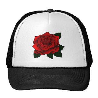 Red Rose Goth Art Mesh Hats