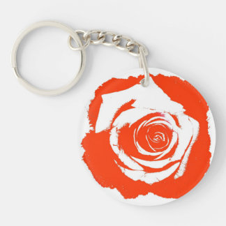 Red Rose graphic Acrylic Keychains