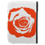 Red Rose graphic Case For Kindle