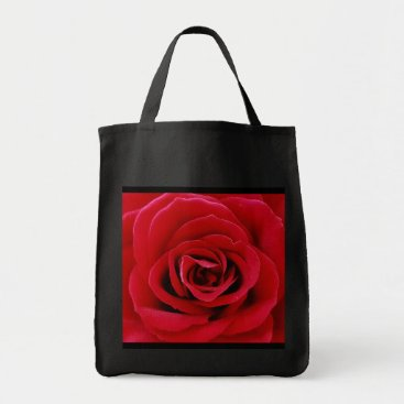 Travel_Heirlooms Red Rose Grocery Tote