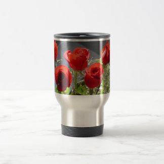 Red Rose Group 15 Oz Stainless Steel Travel Mug
