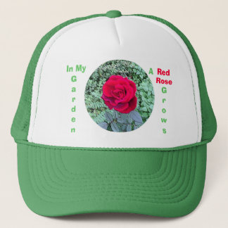 Red Rose Grows in My Garden Hat