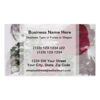 Red rose grunged original design Double-Sided standard business cards (Pack of 100)
