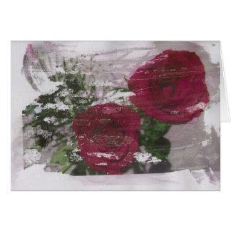Red rose grunged original design stationery note card