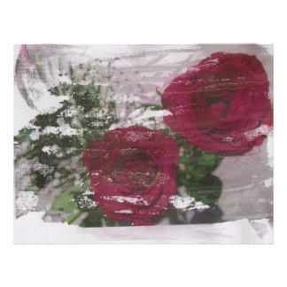 Red rose grunged original design flyer