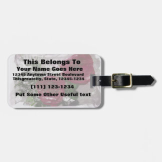 Red rose grunged original design tags for luggage