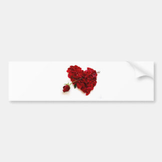 red rose heart bumper stickers