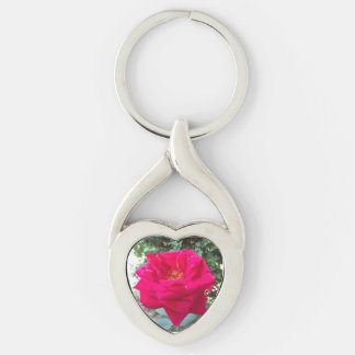 Red Rose Heart Key Chain