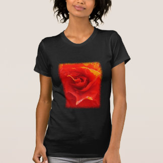 Red Rose Heart ladies t-shirt