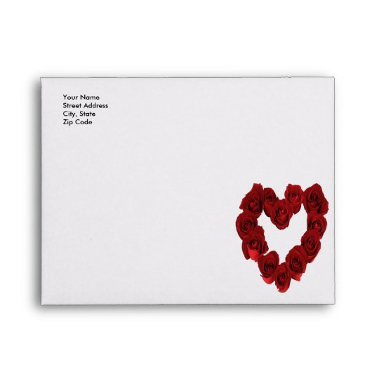 Red Rose Heart - Save the Date Envelopes