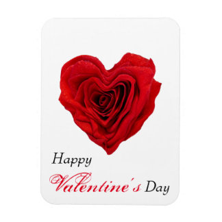 Red Rose Heart Shape - Valentine's Day Magnet